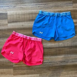 Under Armour Play Up Shorts Neon Bundle